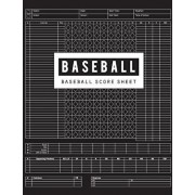 Baseball Score Sheet: Baseball Game Record Keeper Book, Baseball Score, Baseball score card has many spaces on which to record, Size 8.5 x 1, Paperback/Bg Publishing