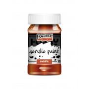 Pentart Metál vörösréz színű akril bázisú hobbi festék 100 ml
