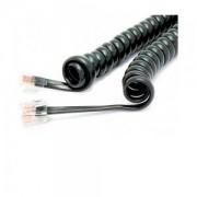 Cordão Espiral p/ Monofone 3m Preto - Dantas Telecom