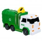 Camion reciclare deseuri, 2 x AA, sunete si lumini