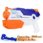 Small Water Gun, Kids Toys,Light Quality Easy to Use by Girls, Mini Water Blaster, Pressurized Water Pistol, Cool Squirt Gun(Blue-Blasting)