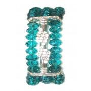 Green Crystal Bracelet and Diamantes