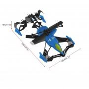 EB Coche Quadcopter Juguetes 2 En 1 Air-Ground Coche Volador RC Teledirigido Quadcopter Flip 3D - Azul