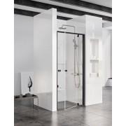 Ravak Pivot PDOP1-90 egyrészes kifelé nyíló zuhanyajtó fekete kerettel, transparent edzett biztonsági üveg betéttel 03G70300Z1