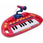 Bontempi Keyboard Toyband met Microfoon en Lichteffecten Rood