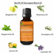 KAZIMA DECONGEST BLEND ESSENTIAL Oil (15 Ml) Pure Therapeutic Grade For Mind & Body Sense of Relaxation