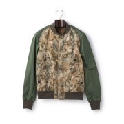 【71%OFF】迷彩柄 切替 N3-B ジャケット カーキ m ファッション > メンズウエア~~ジャケット
