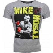 Mascherano T-shirt - Mike Tyson Glossy Print - Grijs