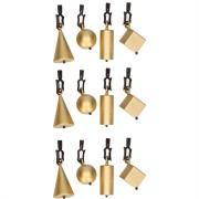 Geen 12x Tafelkleedgewichtjes gouden vormen 5 cm