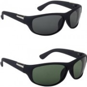 I Rajora Oval Sunglasses(Green, Grey)