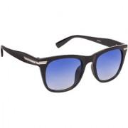 Arzonai Percey Wayfarer Black-Blue UV Protection Sunglasses For Men & Women (MA-315-S2 )