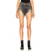R13 Shredded Slouch Short in Black. - size 30 (also in 28,29,31)