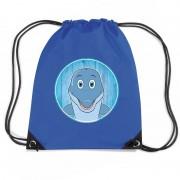 Shoppartners Dolfijnen rugtas / gymtas voor kinderen