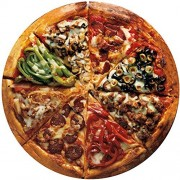Bits And Pieces Pizza Pie 300 Piece Round Jigsaw Puzzle