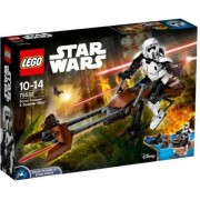 LEGO® Constraction Star Wars Scout Trooper™ si Speeder Bike™ 75532