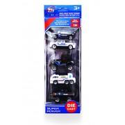 Super Toy Metal Die Cast Metal Toy Set of 5 (Police Car & Truck Model)