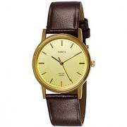 Timex Round Dail Brown Leather StrapMens Quartz Watch For Men