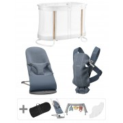 BABYBJÖRN Pack Premium pour nouveau-nés - Bleu chiné, 3D Jersey