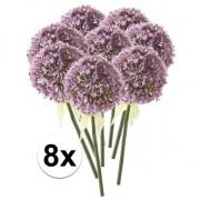 Bellatio flowers & plants 8x Lila sierui kunstbloemen 70 cm