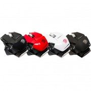 Mouse, Mad Catz Cyborg R.A.T. M, Gaming, Wireless, Bluetooth, Red