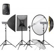Walimex VC-400/400/300 Excellence Zwart, Goud, Zilver apparatuurset voor fotostudio