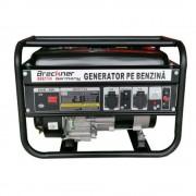 Generator de curent monofazat Breckner BK87734, 2 x 220 V, motor OHV 6 CP, AVR, putere maxima 2.3 kw, rezervor 15 L