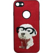 Skin iPhone 7 Lemontti Embroidery Red Puppy