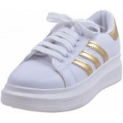 Adorn Active and Cool Sneakers For Women(Gold)