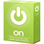 Preservativi aromatizzati On! Fruit & Color 3 pezzi