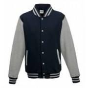 Varsity Jacket Oxford Navy/Heather Grey