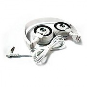 Bluei BI-HP-103 Over Ear Headphones (Black White)