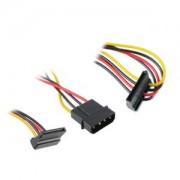 Cablu adaptor Akasa de la 4 pini Molex la 2x SATA, 30cm, AK-CBPW01-30