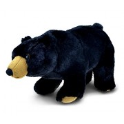 Puzzled Wild Small Black Bear Super - Soft Stuffed Plush Cuddly Animal Toy Animals / Theme 11 Inch (5774)
