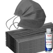 Hygienepapier.nl Mondkapjes Zwart - 100 stuks + gratis 150ml handgel (M100ZWART)