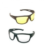 HD Best Quality Night Day Drivng HD Night Vision NV Glasses In Best Price 2Pcs. (SEEN AS TV)