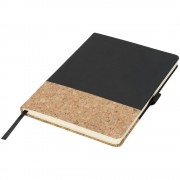 Agenda A5 cu pagini dictando, coperta tare cu elastic, Everestus, EA01, pluta, pu, negru, lupa de citit inclusa