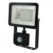 Proiector LED cu senzor 20W 220V-240V 6400K negru tip smd led