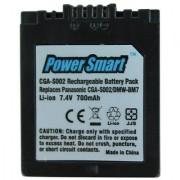 Power Smart 700mAh Replacement Battery for Panasonic CGA-S002 and DMW-BM7 - Black