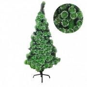 Brad Artificial tip Pin Decorativ de Craciun cu Varfuri Ninse 210cm
