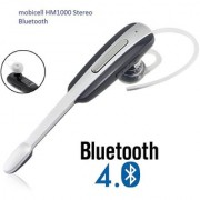 HM1000 Bluetooth Headset with Mic (Silver In the Ear)