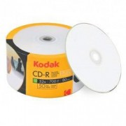 CD R80 Kodak 700 MB inkjet printabile full surface mate pachet 50 discuri ambalate in folie colorata