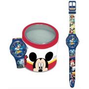 Orologio disney 561237 bambino mickey mouse - tin box