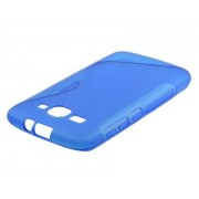 Wave Case for Huawei Ascend Y520 - Huawei Soft Cover (Frosted Blue/Blue)