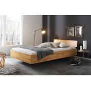 Lifestyle4Living Bett in Eiche-Wotan Nachbildung, Liegefläche 120 x 200 cm