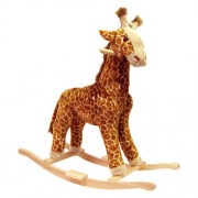 Happy Trails Giraffe Plush Rocking Animal by Trademark Global
