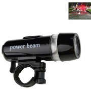 Futaba Bicycle Rear Light and 5 LED Power Beam Front Head Light - Red