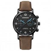 Wenger Urban Metropolitan Reloj de cuarzo Cronógrafo acero inoxidable black-dark brown