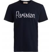 MAISON KITSUNÈ T-shirt Maison Kitsuné blu con stampa Parisen
