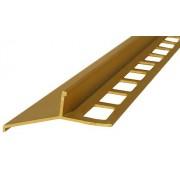 Profil aluminiowy balkonowy 44mm 2,5m - okapnik anodowany złoto