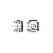 Piuliţă coşuleţ M5 Oţel inoxidabil A2 BN:3307 B5/BN3307